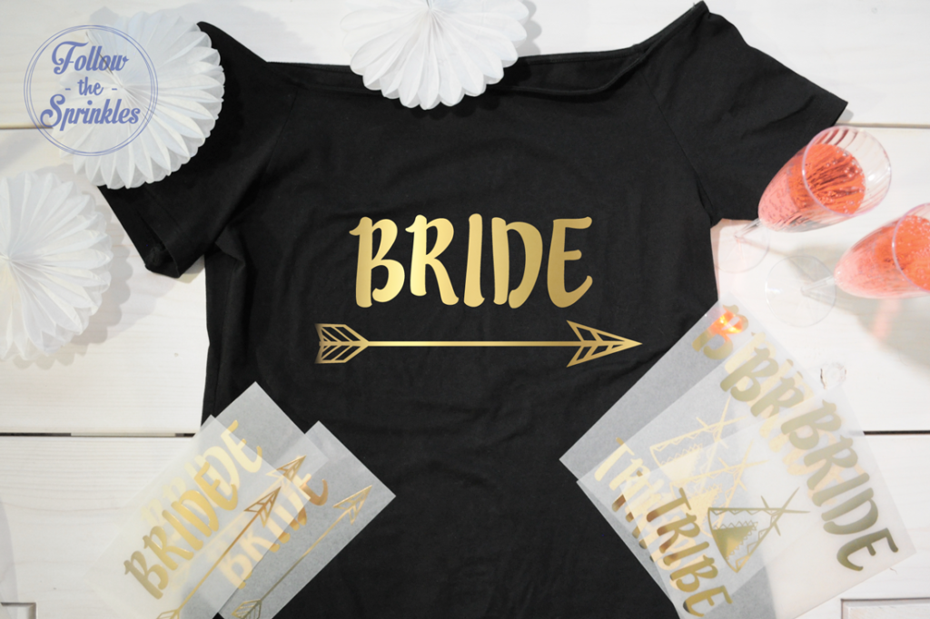 Heat on transfer, iron transfer, bride decal, diy bride shirt