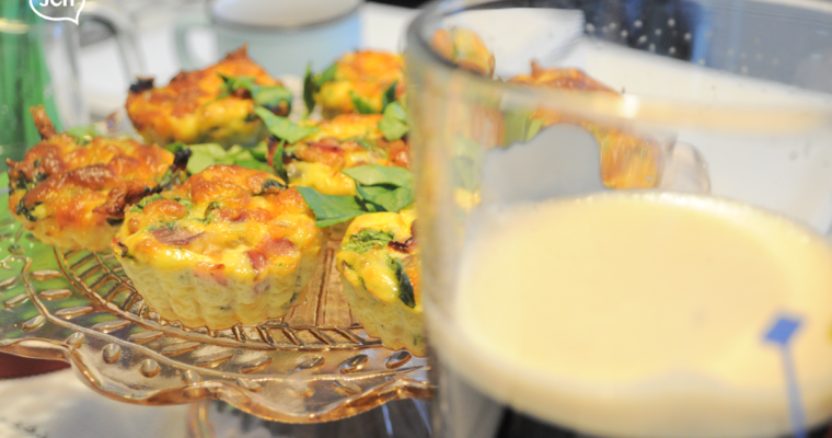 Crustless Mini Quiches – St Paddy's edition