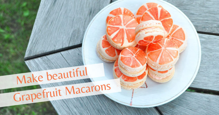 How to make Grapefruit Macarons
